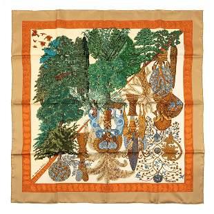Hermès - Les Légendes de l'Arbre Silk Twill scarf