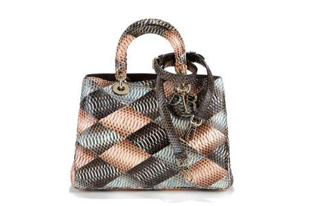 Christian Dior - Diorissimo Tote patchwork pyton