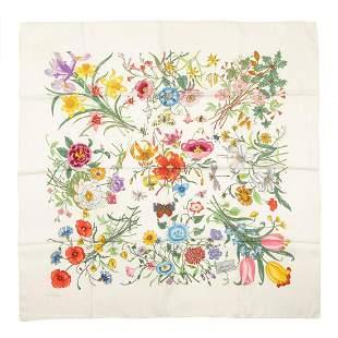 Gucci - Silk Twill Flora scarf