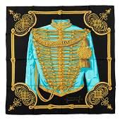 Hermès - Brandebourges Silk Twill scarf