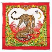 Hermès - Jungle Love Silk Twill scarf