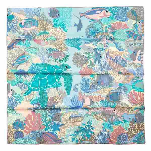 Hermès - Under the waves Silk Twill scarf