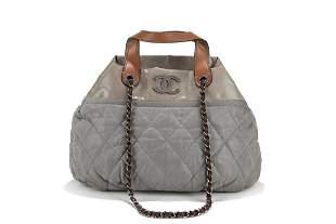 Chanel - Double handle leather bag