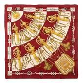 Hermès - Cliquetis Silk Twill scarf