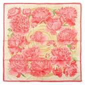 Hermès - Pivoines Silk Twill scarf