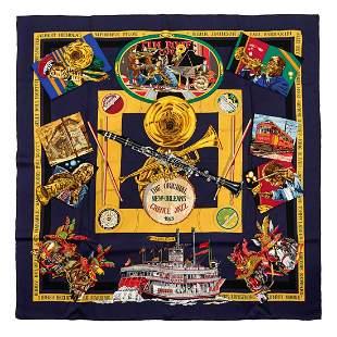 Hermès - New-Orleans Silk Twill scarf
