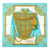 Hermès - Brandebourgs Silk Twill scarf