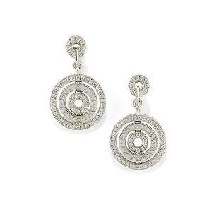 Bulgari - A 18K white gold and diamond pendant