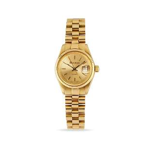 Bulova - A 18K yellow gold lady's wristwatch, Bulova