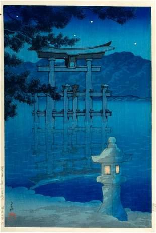 Kawase Hasui (Giappone 1883-1957) - Print depicting a