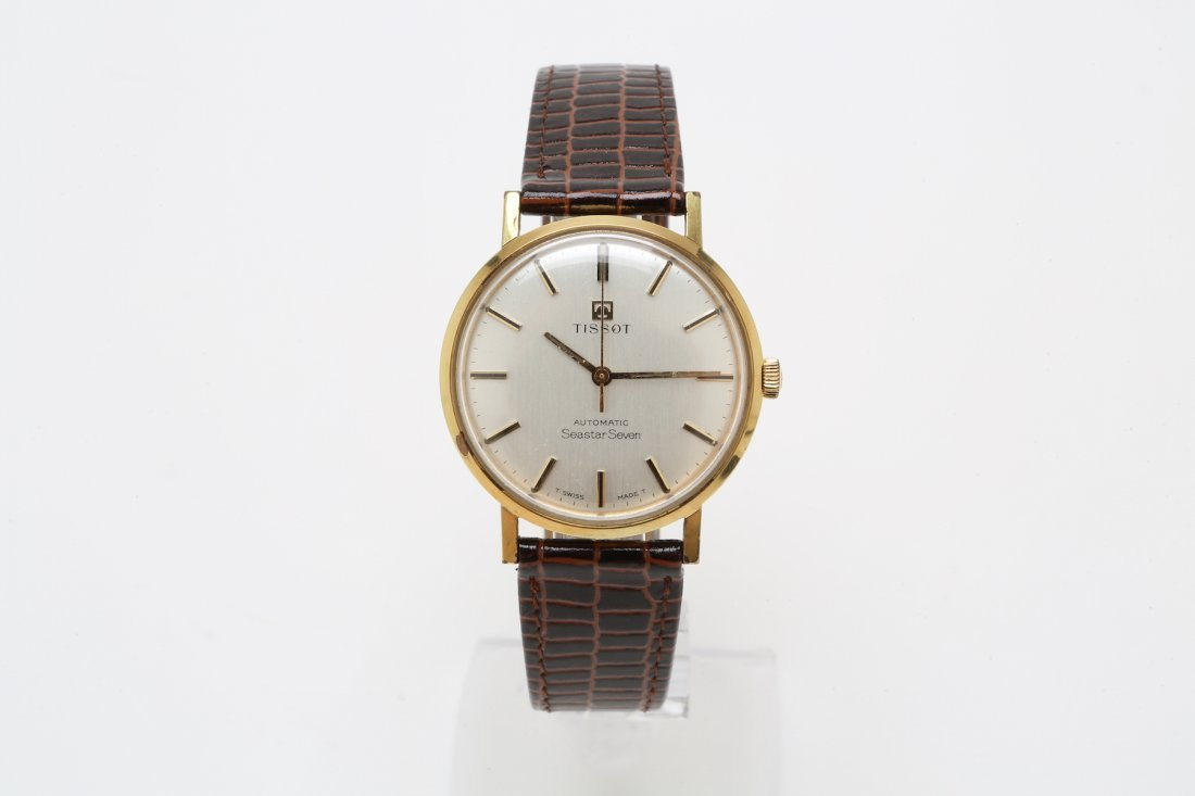 1960s Stainless Steel and Gold Tissot SeaStar Seven