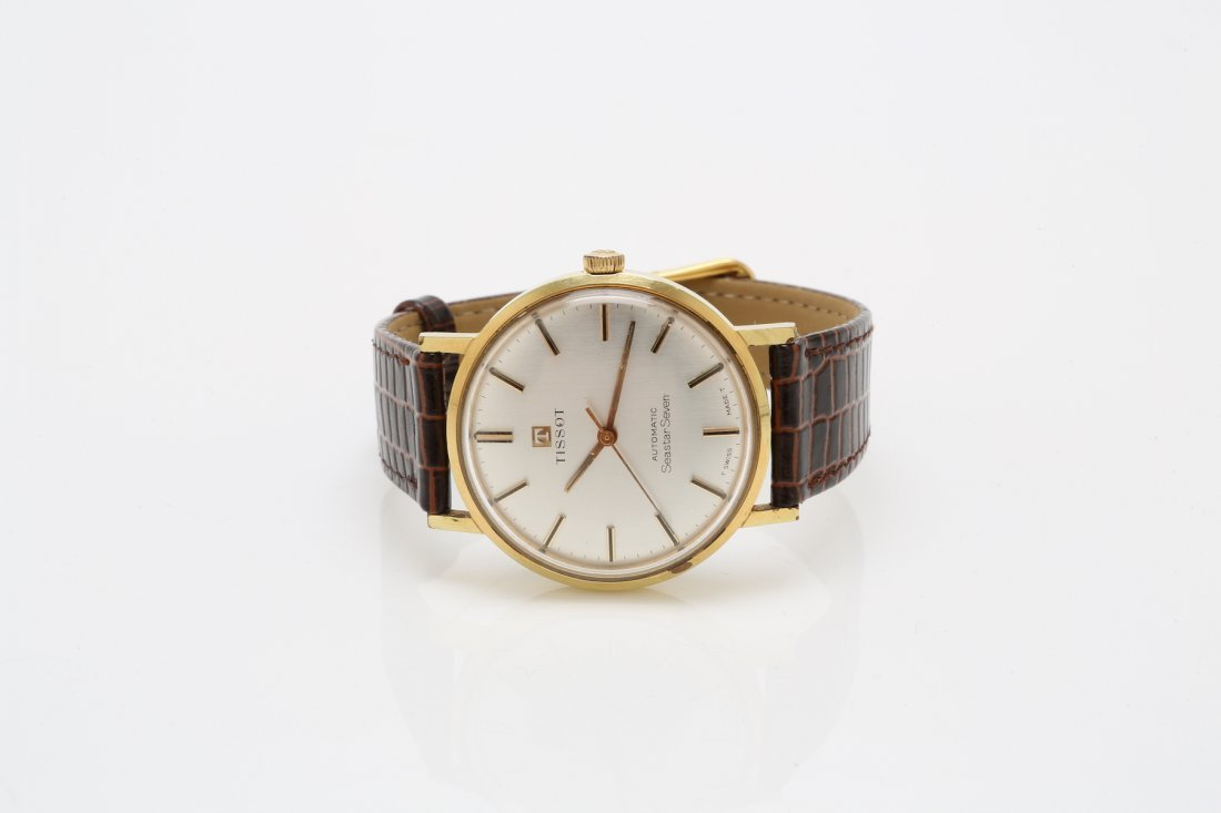 1960s Stainless Steel and Gold Tissot SeaStar Seven - 3