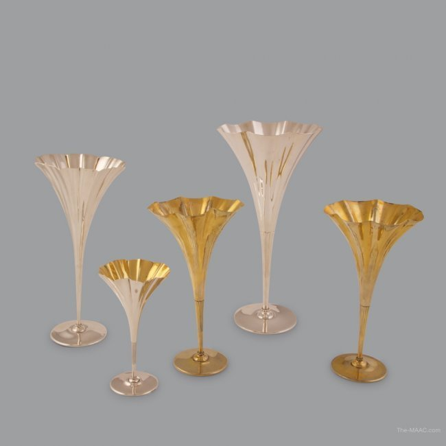 Set of 5 Tiffany & Co. Table Vases