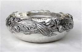 Tiffany  Co Pine Cone Sterling Silver Bowl