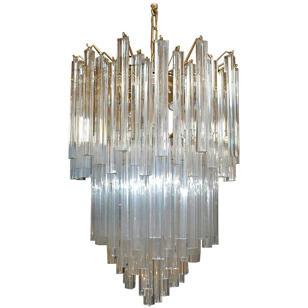 Triedri Tiered Murano Glass Chandelier