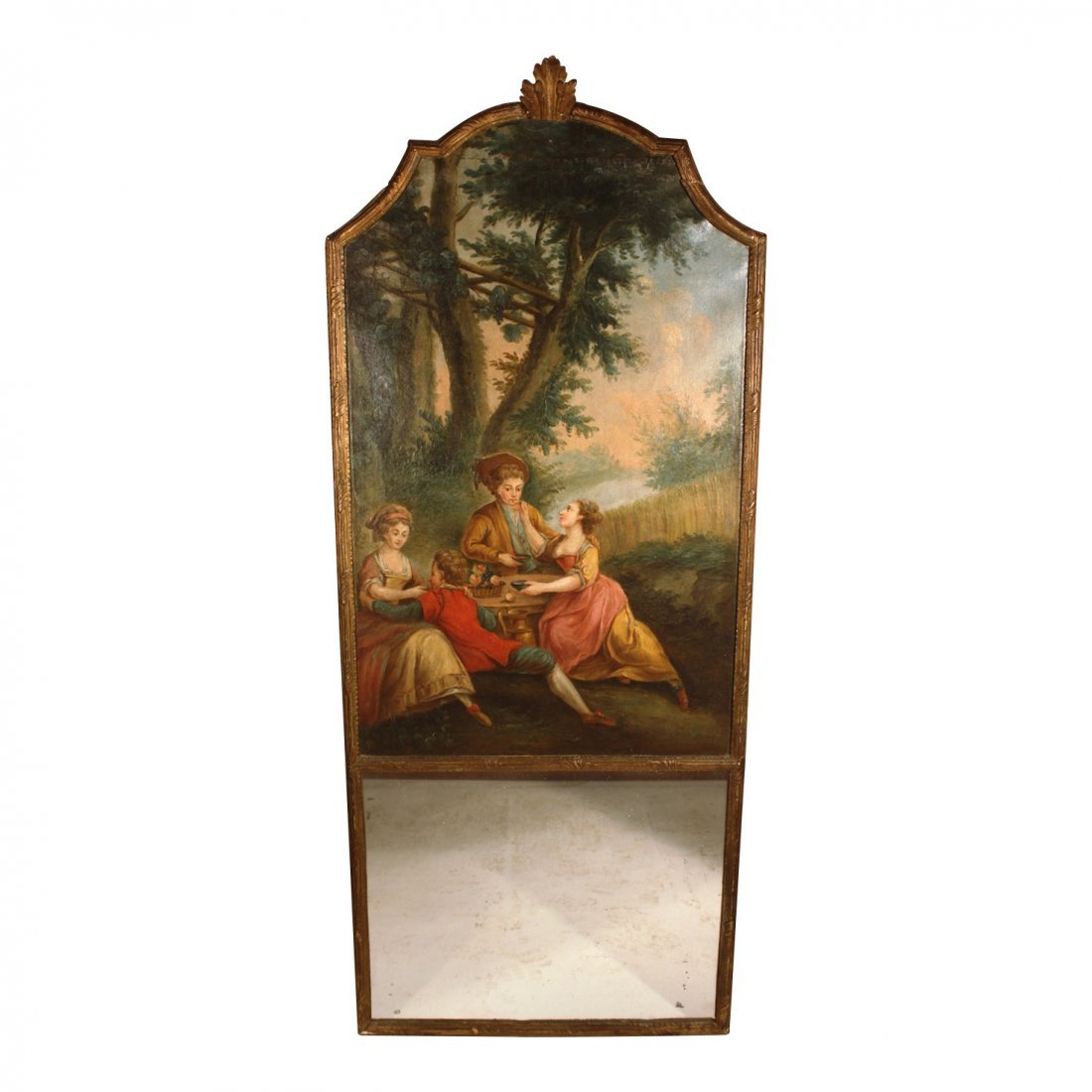 Louis XV French Trumeau Mirror