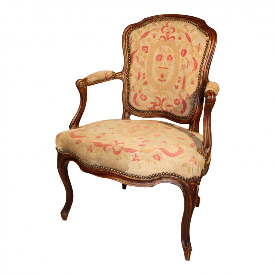 "Louis XV Fauteuil, Signed ""J.B.Lelarge"""