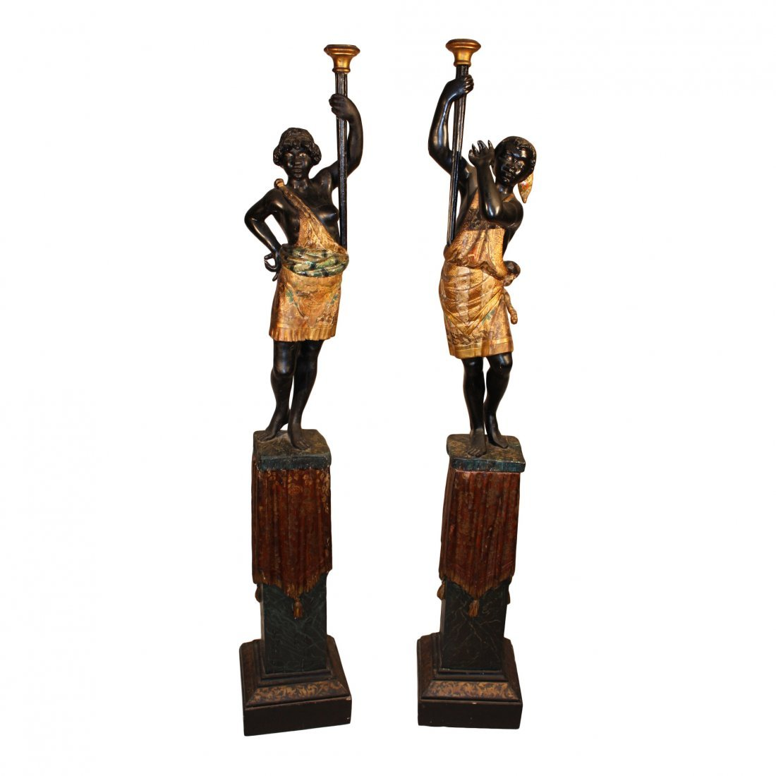 Pair Of Venetian Blackamoors