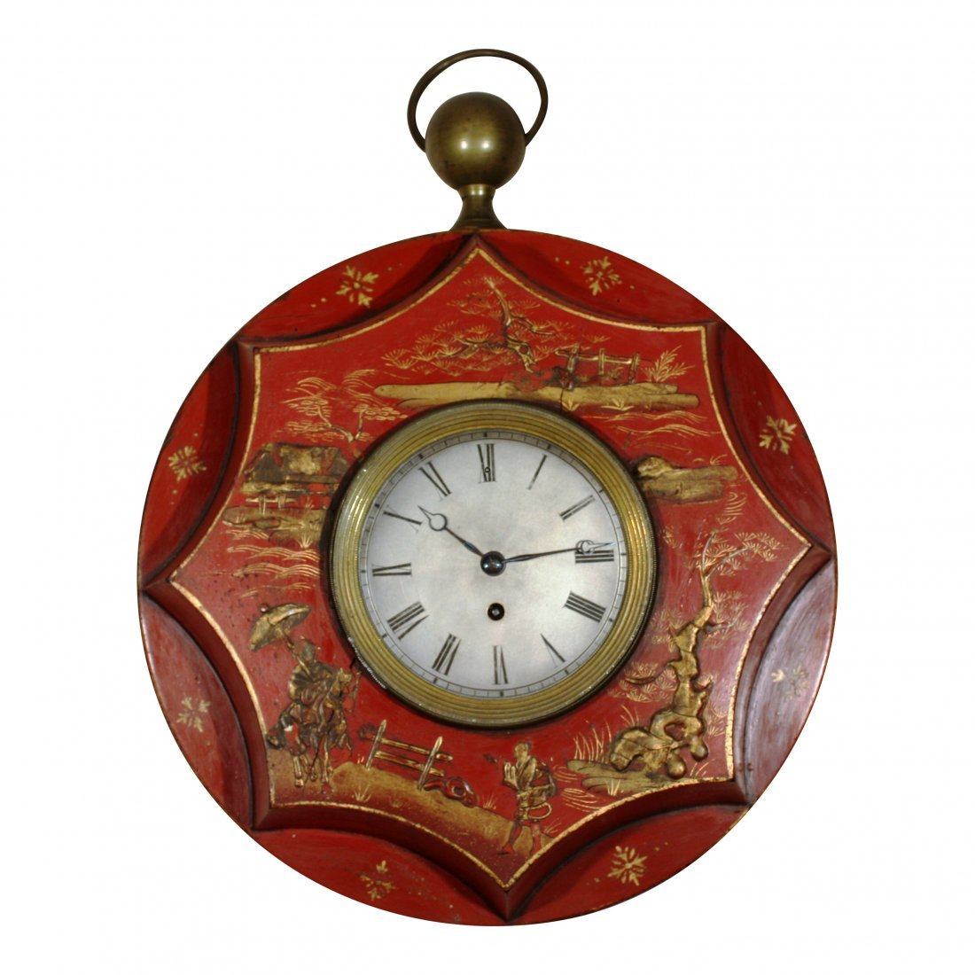 Empire Style Chinoiserie Wall Clock