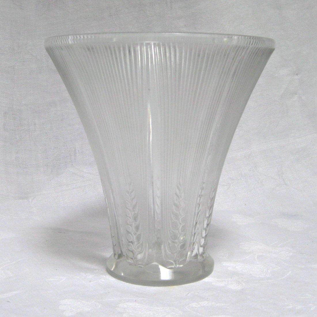 R. Lalique Epis Glass Vase
