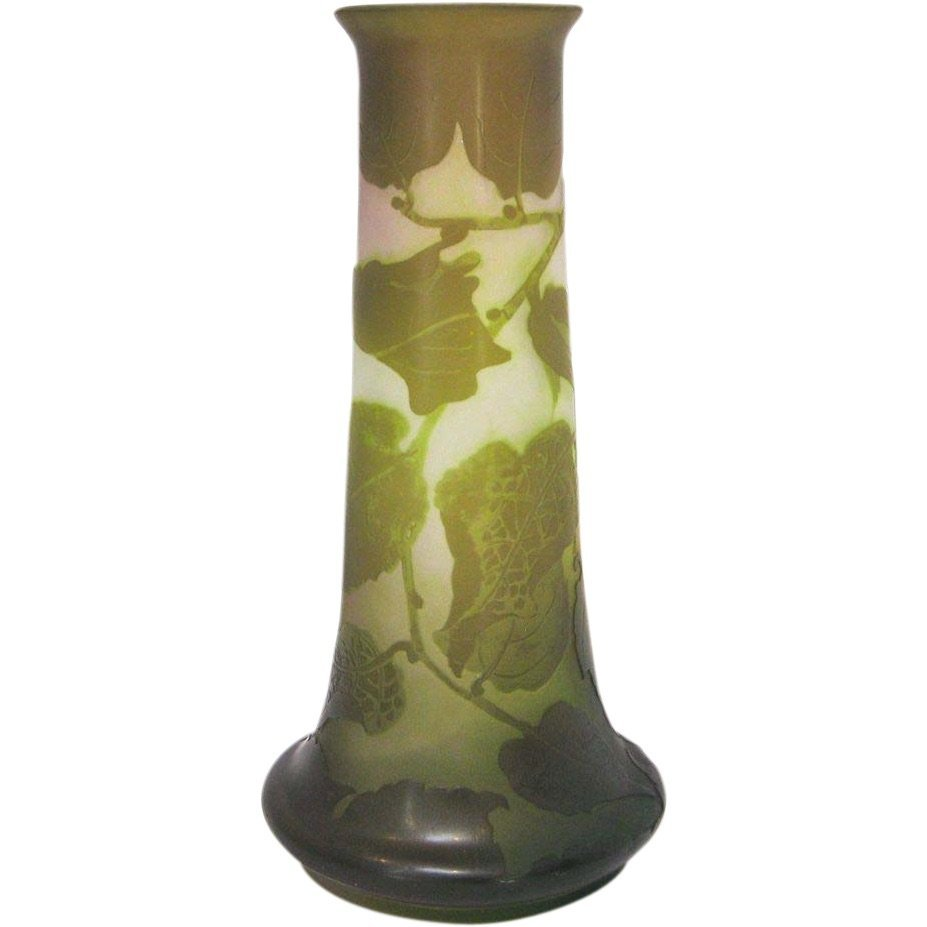 Galle French 4-Color Cameo Glass Vase