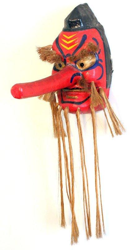 Large, Powerful Tengu Mask by Renowned Artisan