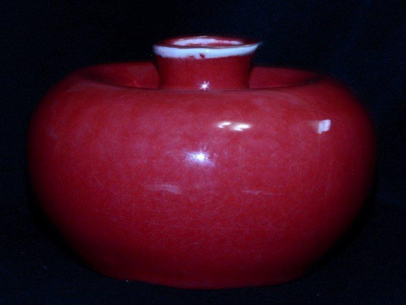 A fine Peach bloom-glazed Beehive water pot Kangxi