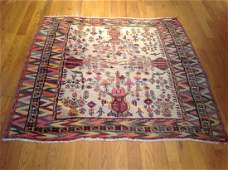 Semi-Antique Persian Balouch rug with Kilim weave