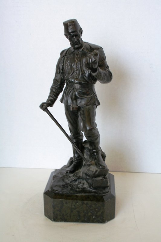 Antique Bronze Figure of a Russian Miner