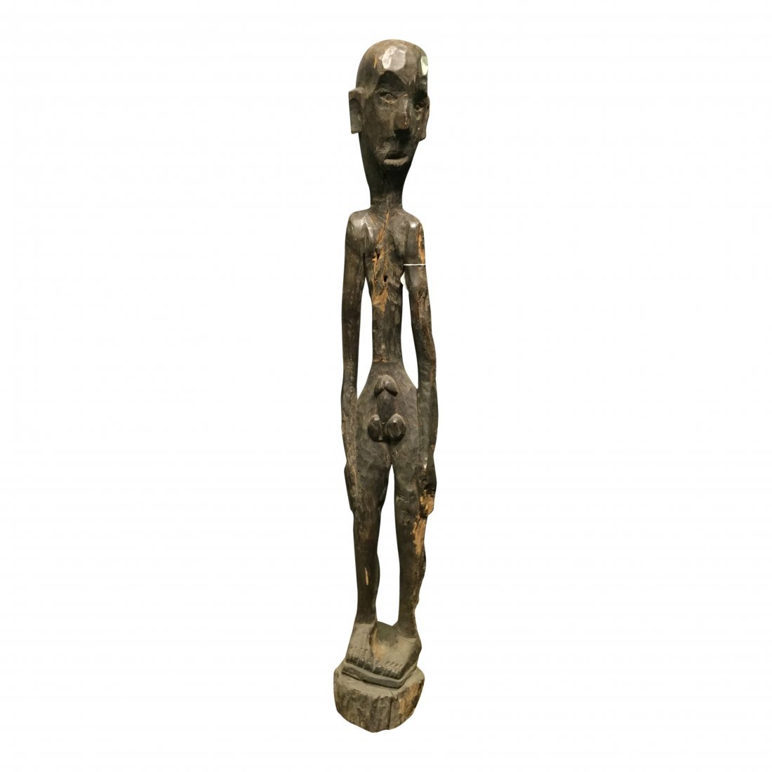 18th Century skinny standing bulul rice god