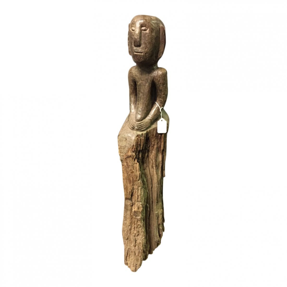 19th Century bulul statue with long base