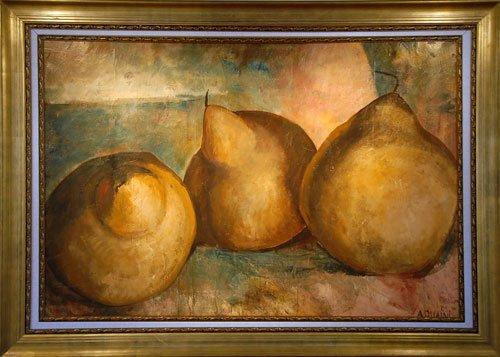 Rare Mural Size Original Oil By Alicia Quaini