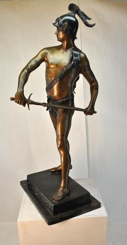 Vintage Large & Heavy Classical Figure Bronze Statue