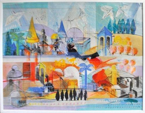 Calman Shemi Mural Size Color Lithograph