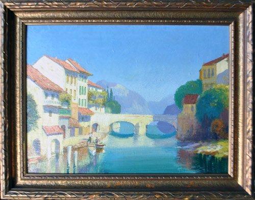Simply Splendid Original Oil On Board By J. Kern