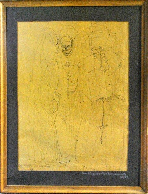 Lili Rilik-Andrieux Original Ink On Paper