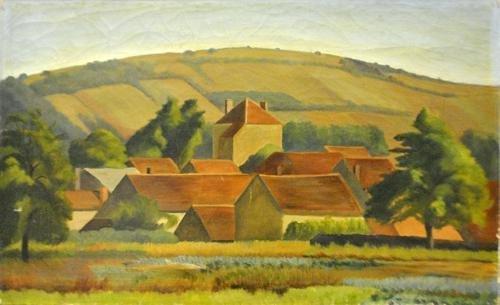 Vintage Italian Landscape Painting By Edward Bruce
