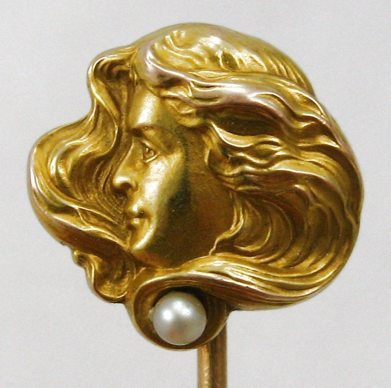 Lady with Pearl - Stick Pin by WHITESIDE & BLANK