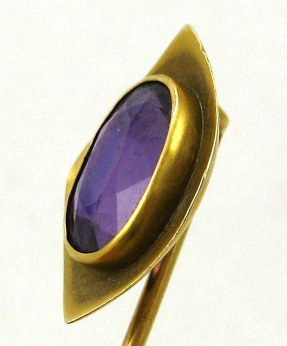 Amethyst Stick Pin – 14k – Arts & Crafts