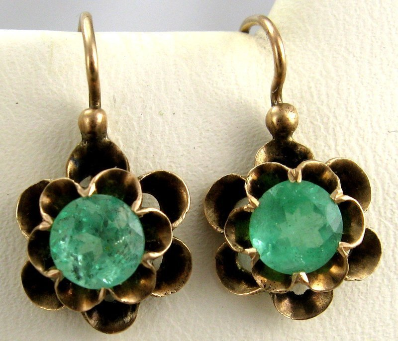 Emerald Buttercup Earrings – Rose Gold