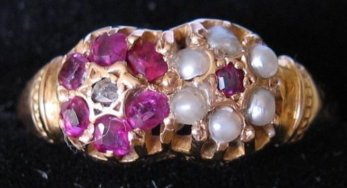 15kt Ruby & Pearl Ring