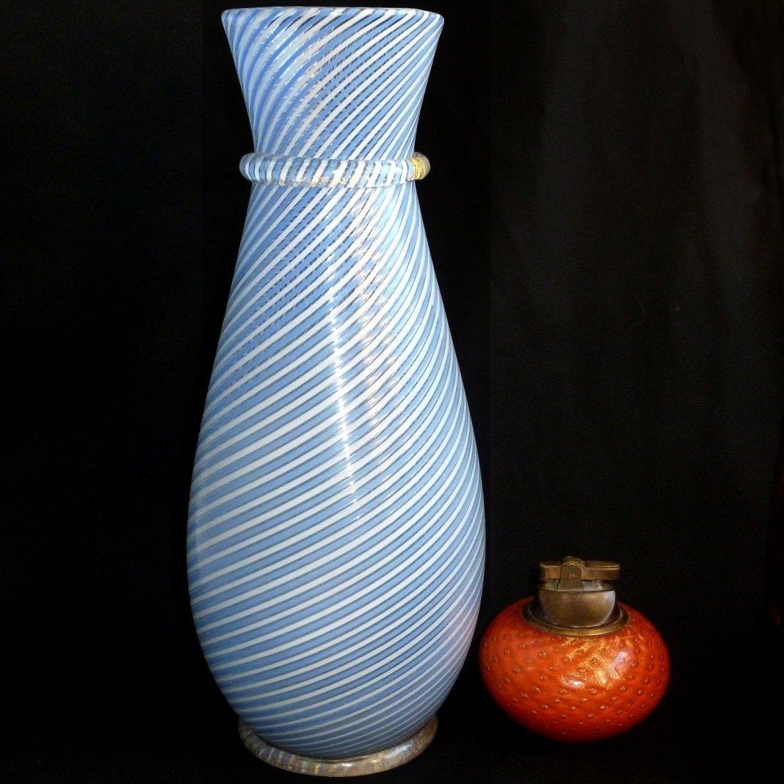 Dino Martens Murano Filigrana Gold Flower Vase