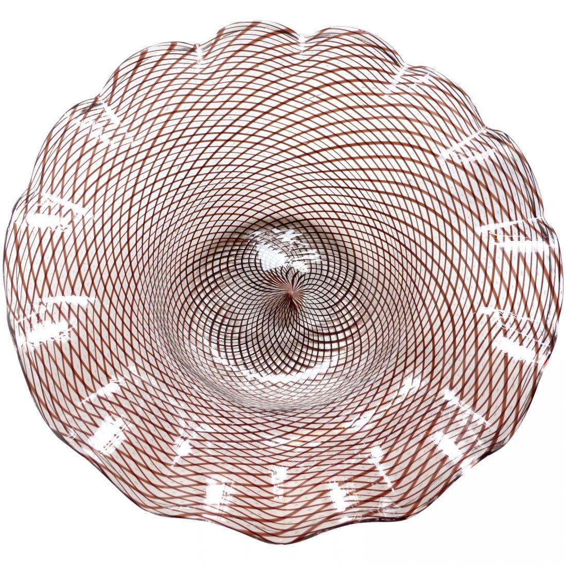 Murano Roticello Ribbon Ruffle Rim Glass Bowl