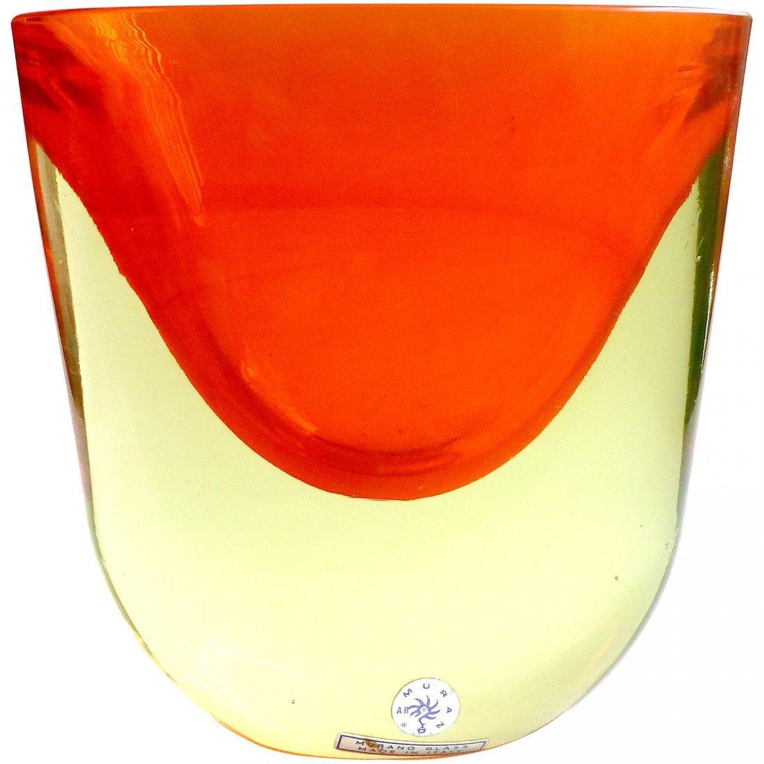 Antonio Da Ros Cenedese Murano Sommerso Vase
