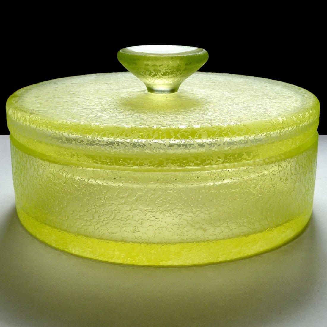 Murano Vaseline Uranium Corroso Glass Box