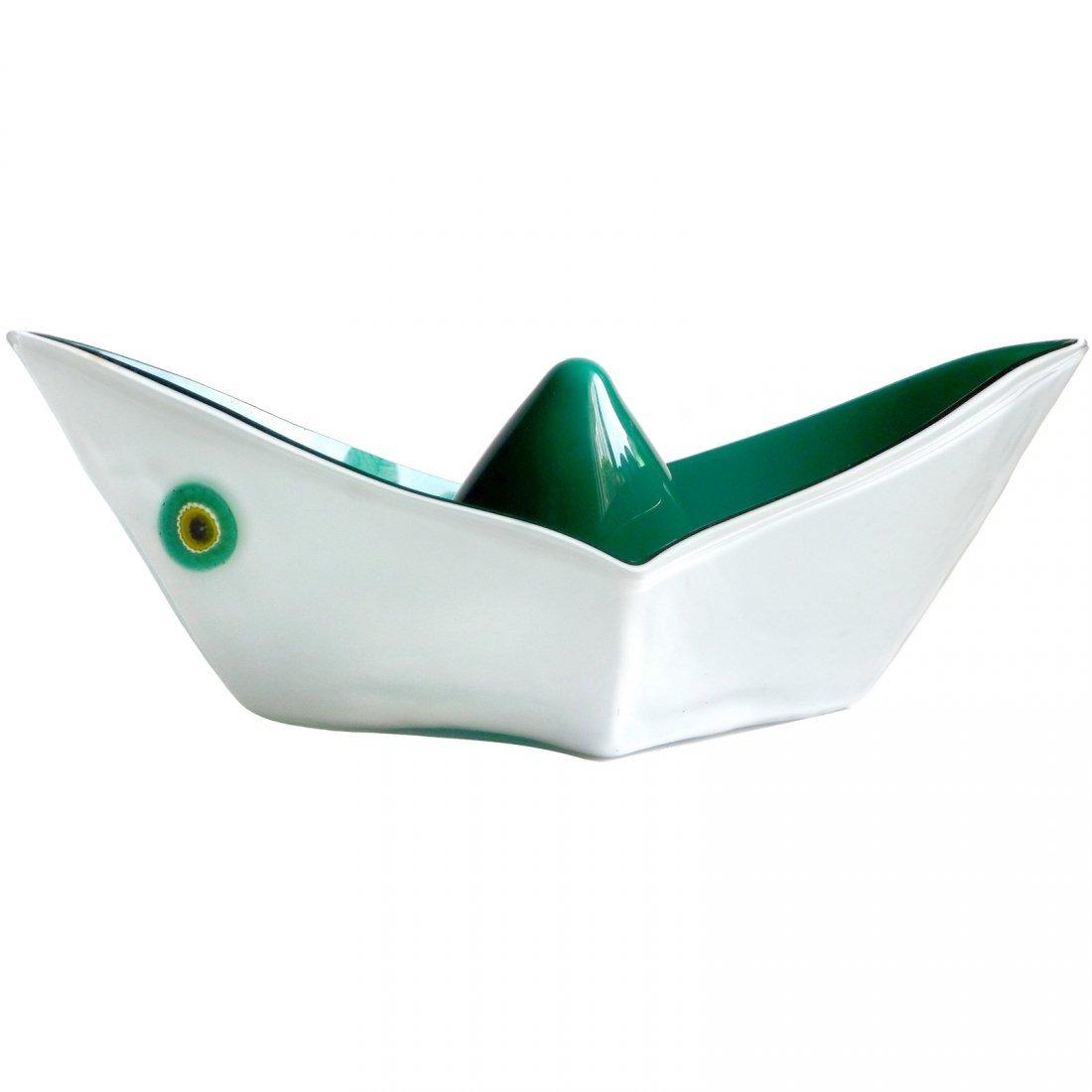 Gino Vistosi Murano 1961 Origami Sculpture
