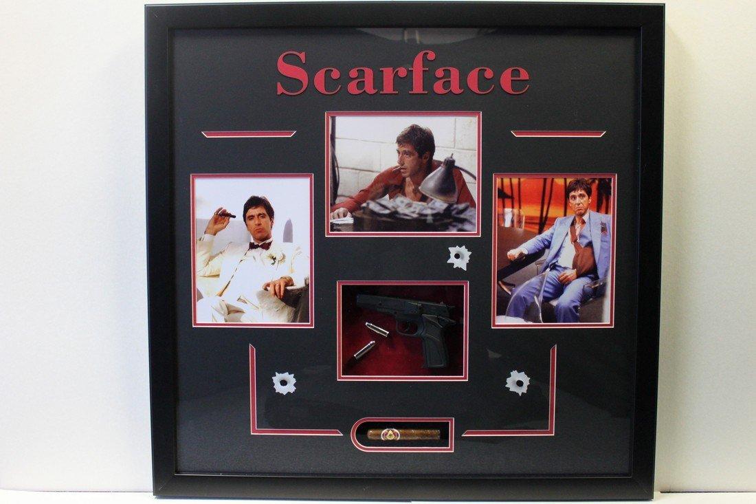 Scarface Movie Plaque with Three Photos
