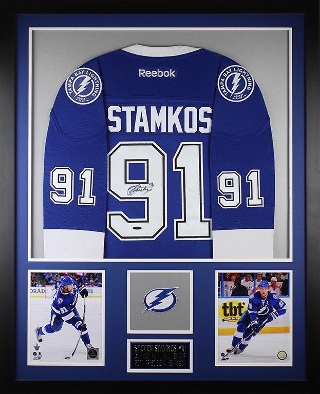 Steven Stamkos Autographed and Framed Blue Lightning