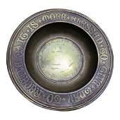 Gorham Arts & Crafts Gilt Brass Offering Bowl, IT IS
