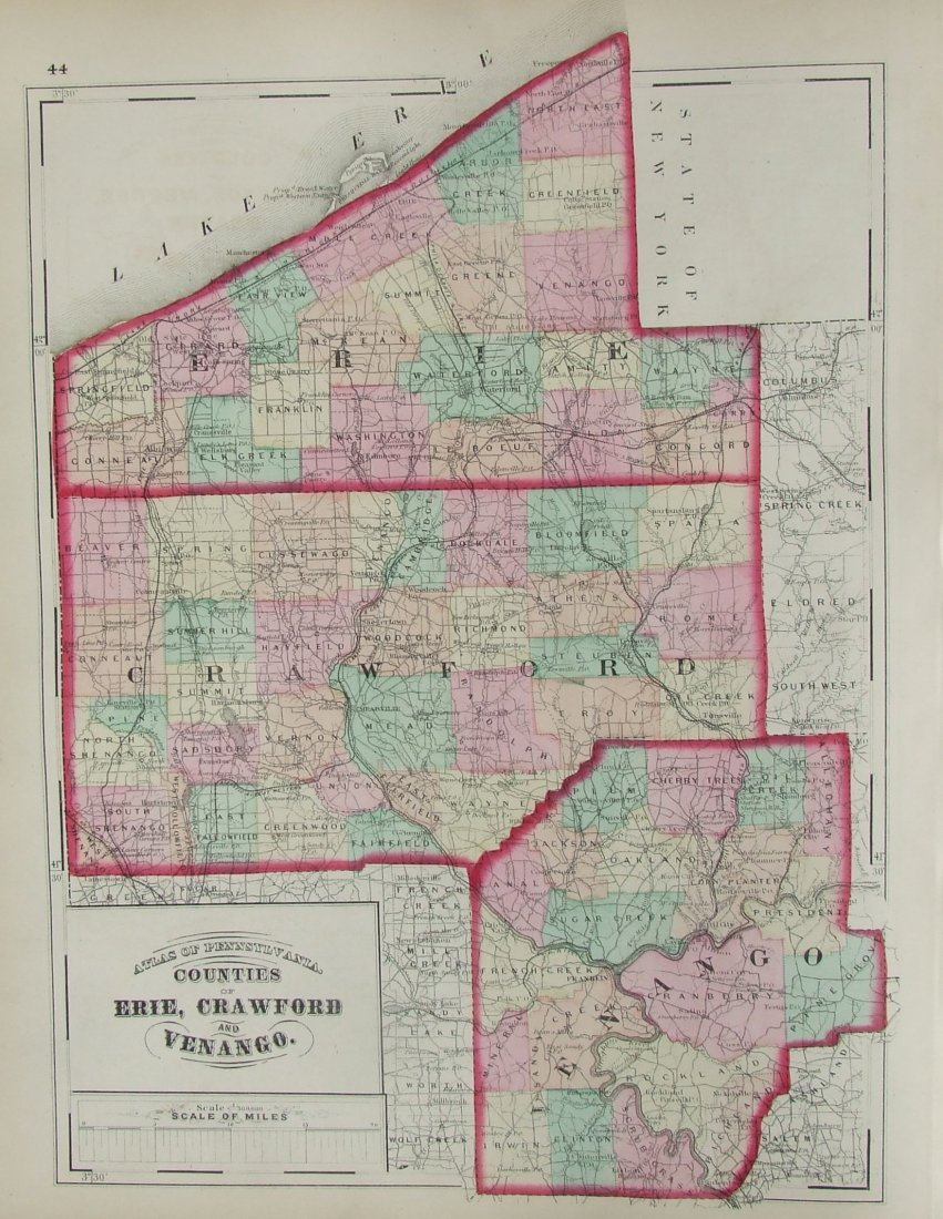 Pennsylvania: County Erie, Crawford & Venago